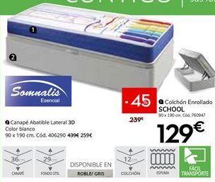 Oferta de Colchón enrollado somnalis por 129€