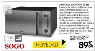 Oferta de Microondas Sogo por 89,99€