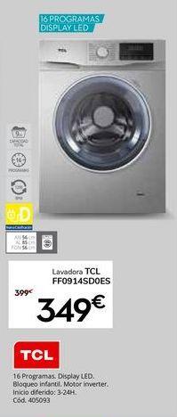 Oferta de Lavadora carga frontal TCL por 349€