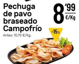 Oferta de Pechuga de pavo Campofrío por 8,99€