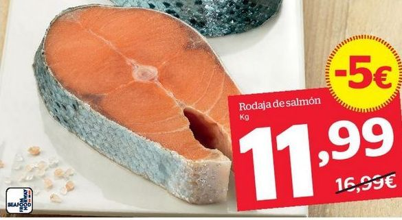 Oferta de Rodajas de salmón por 11,99€