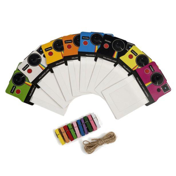 Oferta de Marco - Pack de 8 marcos Polaroid PLXG010 Vintage, Colores, Para papel Zinc 2x3 por 5,11€