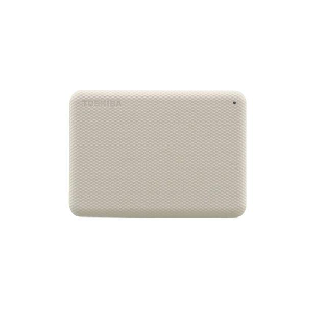 Oferta de Disco duro externo 2 TB - Toshiba Canvio Advance, USB 3.2, Blanco por 80,1€