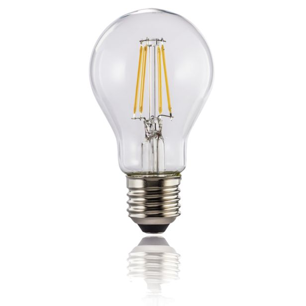 Oferta de Bombilla inteligente - Hama Retro E27, LED, WiFi, Luz regulable, 7W, Alexa y Google Assistant, Blanco por 18,99€