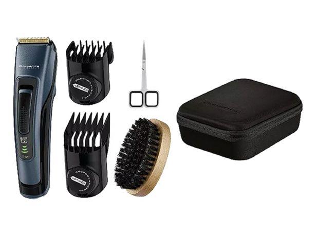 Oferta de Barbero - Rowenta TN4500F0, 120 min autonomía, 44 longitudes, Kit barba Larga, Negro y Azul por 35,99€