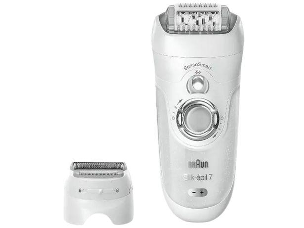 Oferta de Depiladora - Braun, Silk-épil 7 7/880, con cabezal afeitadora, 7 accesorios, tecnología SensoSmart por 89€