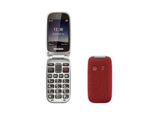 "Oferta de Móvil - Telefunken S560, Para mayores, Bluetooth 3.0, 2.8"", 64 MB, Rojo por 59,49€"