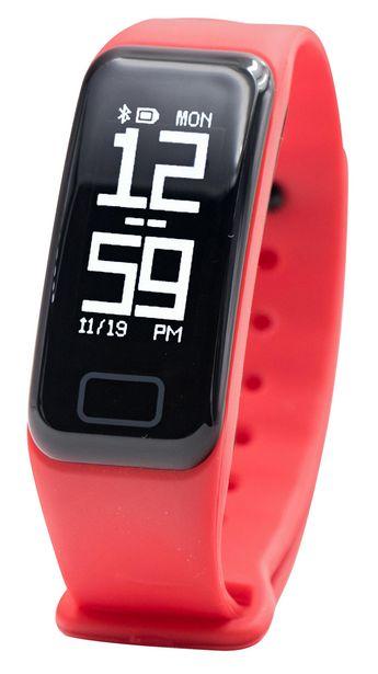 Oferta de Pulsera de actividad - SK8 Active, Frecuencia cardíaca, Sumergible hasta 0.5 metros, Reloj, Rojo por 14,29€
