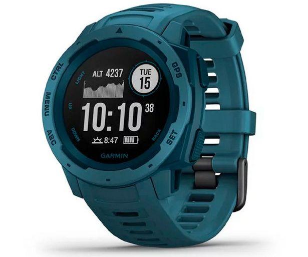 Oferta de Reloj deportivo - Garmin Instinct 010-02064-04, 45 mm, GPS, Bluetooth, ANT+, 10 ATM, Azul por 235,45€