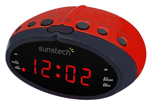 Oferta de Radio despertador - Sunstech FRD16, Radio AM/FM, LED, Roja por 13,49€