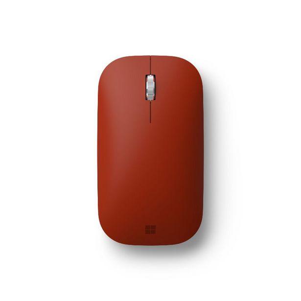 Oferta de Ratón inalámbrico - Microsoft Surface Mobile Mouse Poppy Red, Bluetooth, Alcance 10 m, 3 botones, Rojo por 19,79€