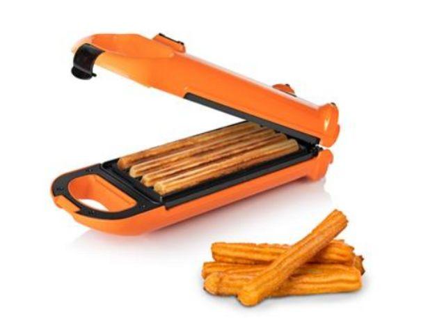 Oferta de Churrera - Princess 132405, 700 W, Para 4 churros, Función volteo, Naranja por 27,54€