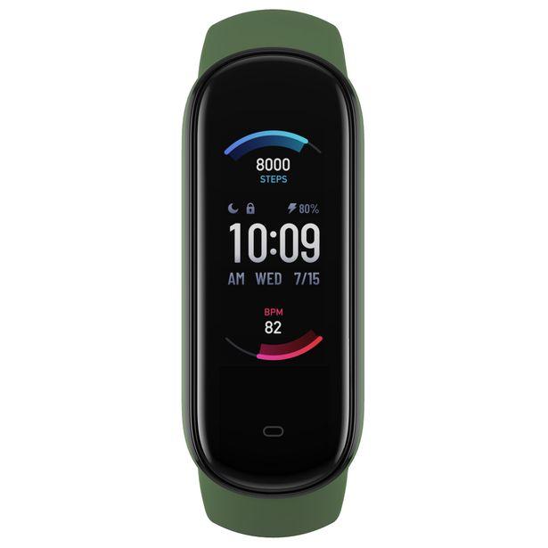 """Oferta de Pulsera de actividad - Amazfit Band 5 Olive, Verde, 18,5 mm, 1.1"""", Multideporte, Bluetooth, Autonomía 15 días por 19,65€"""