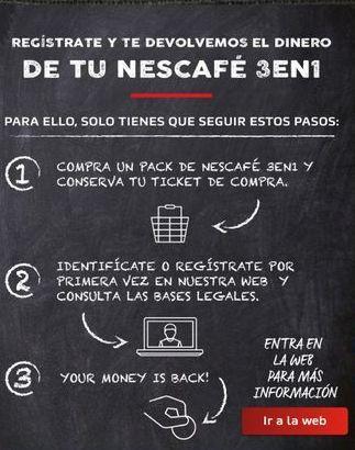 Oferta de Cafeteras Nescafé por