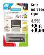 Oferta de Sello marcado ropa por 3,99€