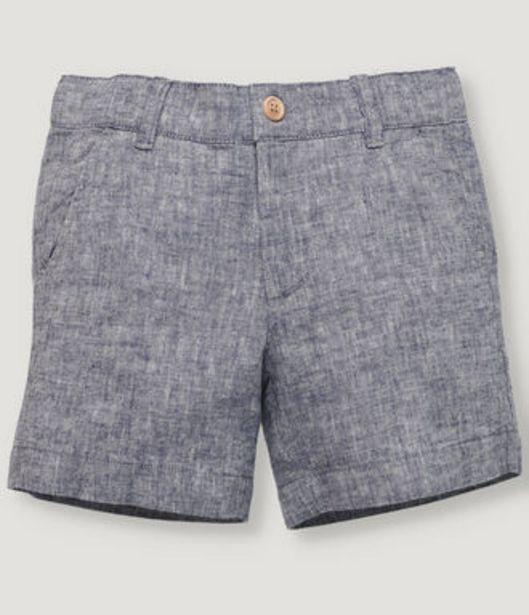 Oferta de Pantalón corto básico de niño en color azul marino. por 19,5€