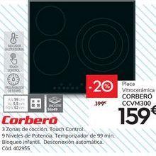 Oferta de VITROCERÁMICA CORBERO CCV M 300 por 159€