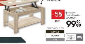 Oferta de Mesa de centro elevabl LUCINDA  por 99,99€