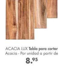 Oferta de Tabla de cortar acacia  por 8,95€