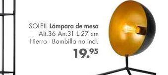 Oferta de Lámpara de mesa soleil  por 19,95€