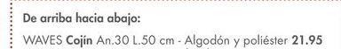 Oferta de Cojines waves por 21,95€