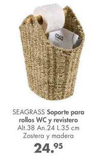 Oferta de Soportes para rollos WC y revistero SEAGRASS por 24,95€