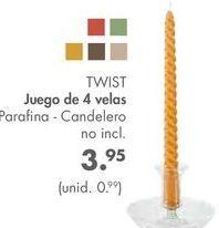 Oferta de Velas TWIST por 3,95€
