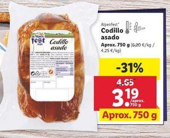 Oferta de Codillo asado alpenfest por 3,19€