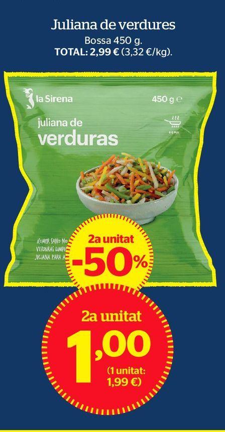 Oferta de Verduras congeladas por 1€