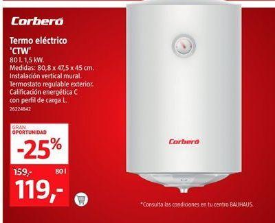 Oferta de Termo eléctrico Corberó por 119€