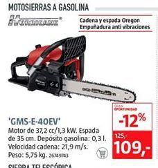 Oferta de Motosierra a gasolina hurricane por 109€