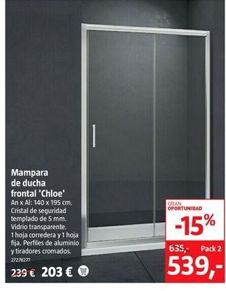 Oferta de Mampara de ducha por 539€
