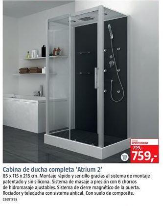 Oferta de Cabina de ducha por 759€