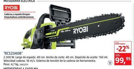 Oferta de Motosierra eléctrica Ryobi por 99,95€