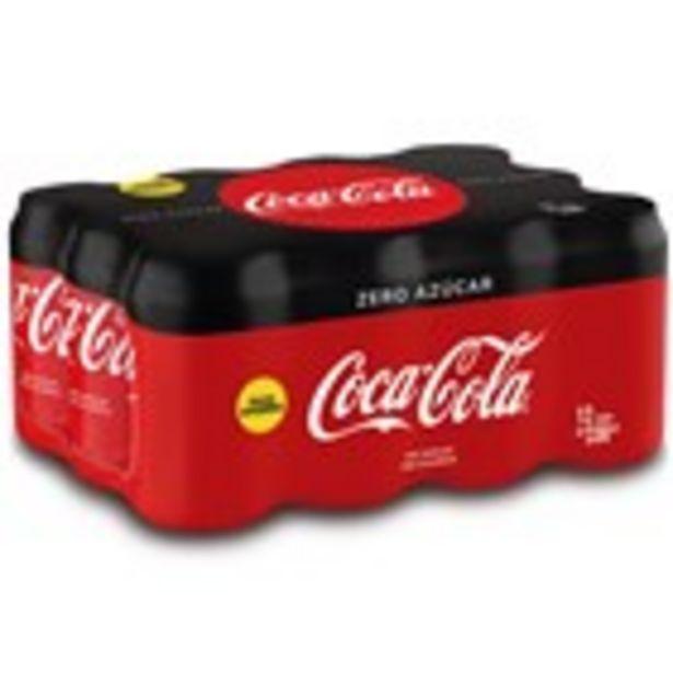 Oferta de Refresc de cola COCA-COLA zero, pack 12 unitats por 7,92€