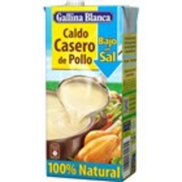 Oferta de Brou de pollastre baix en sal GALLINA BLANCA 100% natural por 1,2€