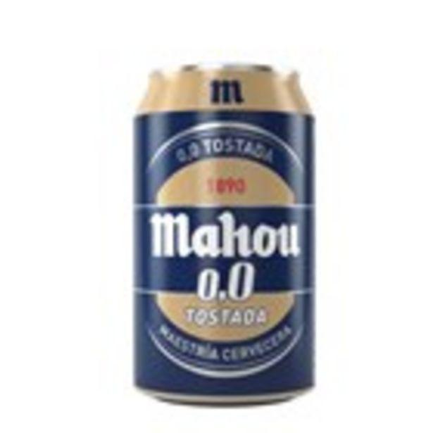 Oferta de Cervesa torrada MAHOU 0,0, llauna 33 cl por 0,5€