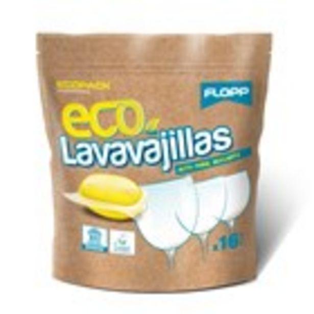 Oferta de Detergent ecològic per a rentavaixelles FLOPP, 16 dosis por 2,99€