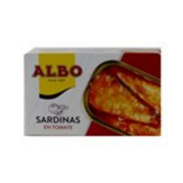 Oferta de Sardina amb tomata ALBO, llauna 85 grams por 1,45€