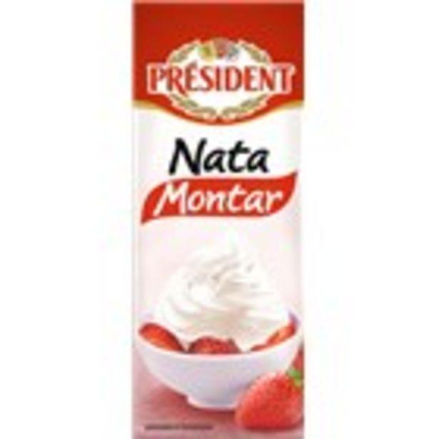 Oferta de Nata per muntar PRESIDENT bric, 200 ml por 1€