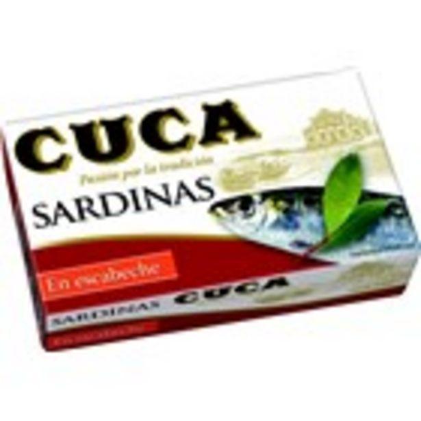 Oferta de Sardines en escabetx CUCA, llauna 80 grams por 1,54€