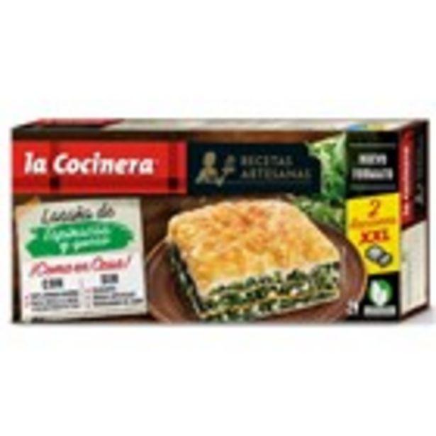 Oferta de Lasanya d'espinacs i formatge LA COCINERA, paquet 530 grams por 3,07€
