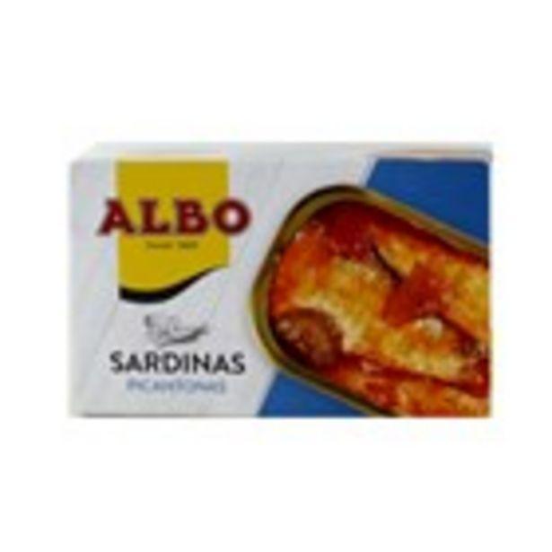 Oferta de Sardines picants ALBO, llauna 85 grams por 1,45€