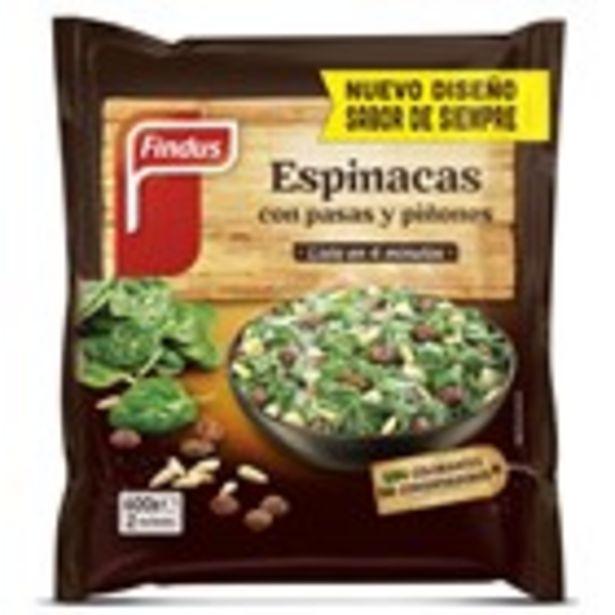 Oferta de Espinacs amb panses i pinyons FINDUS, paquet 400 grams por 2,69€