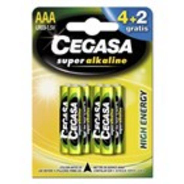 Oferta de Pila ultra-alcalina LR03 CEGASA 4+2 unitats por 3,95€
