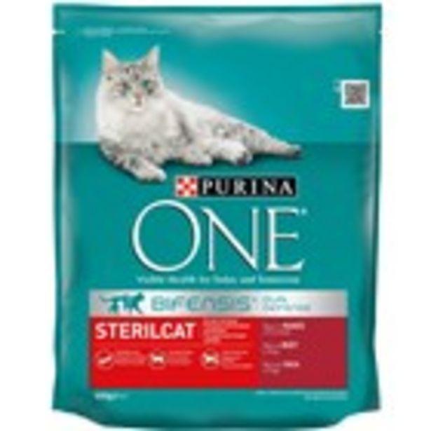 Oferta de Menjar per a gats esterilitzats sec ONE, sac 800 grams por 3,04€