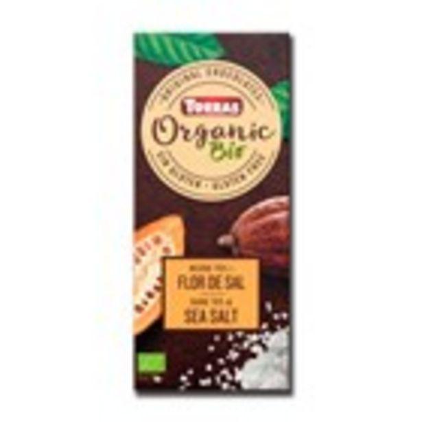 Oferta de Xocolata negra flor de sal bio TORRAS, 100 grams por 1,54€