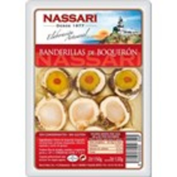Oferta de Banderilles d'anxoves en vinagre NASSARI, envàs 100 grams por 2,99€