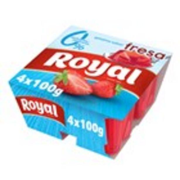 Oferta de Gelatina de maduixa 0% m.g. ROYAL, pack 4 uts 400 gr. por 1,18€