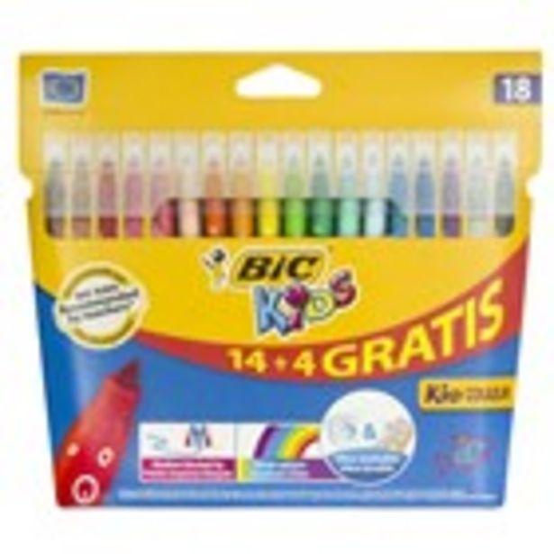 Oferta de Retoladors kids colors ultra rentable BIC, 14 unidades por 2€